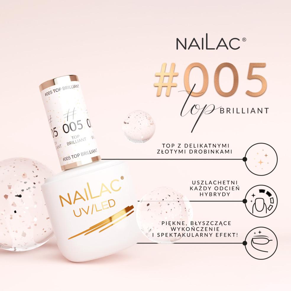#005 Hybrid top coat Brilliant NaiLac...